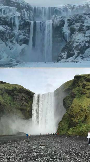 Dračí kámen - Skogafoss, Island
