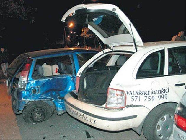 Nabouraná auta