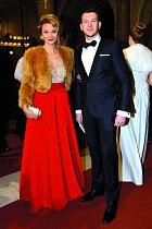 S přítelem Brianem Wilsonem se ukázala na Česko-Slovenském plese.
