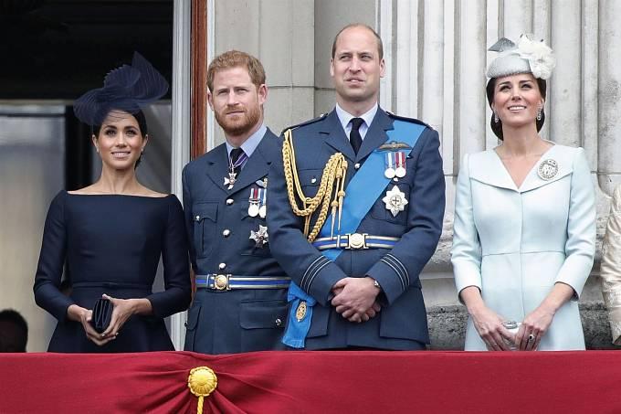 Princ William, Kate, princ Harry, Meghan