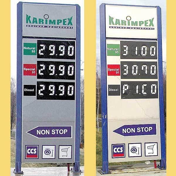 Děti přenastavují ceny nafty.