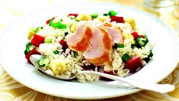 Kuřecí salát s rýží