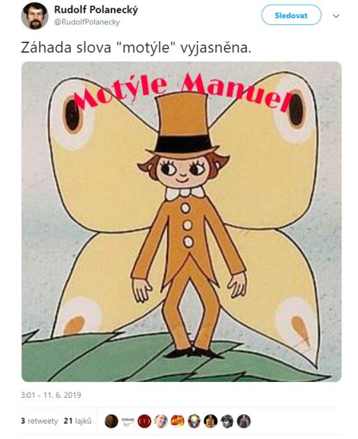 Babišův výrok Motýle
