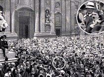 Když v roce 1914 začala první světová válka, tehdy pětadvacetiletý Adolf Hitler válku vítal. Chtěl být vojákem, ale nedotáhl to výš než na desátníka, který jen doručoval rozkazy.