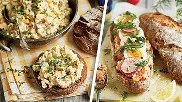 Delikátní vajíčková a letní lososová