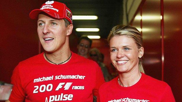 Michael Schumacher s manželkou Corinnou