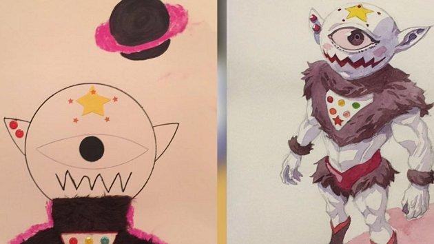 Detske Kresby Transformuje Do Dospelych Manga Komiksu Aby Splnil