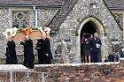 Soukromý obřad se odehrával v malém kostelíku.