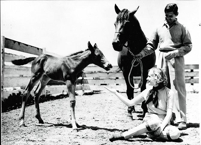 SClarkem Gablem najejich ranči vkalifornském Encinu