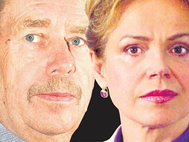 Václav Havel s ženou Dagmar