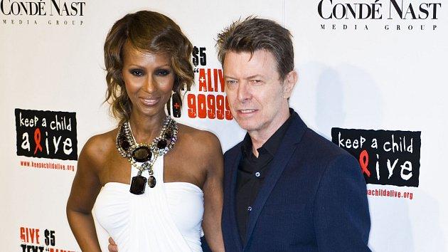 David Bowie s manželkou Iman