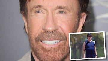 Tělesná schránka Chucka Norrise viditelně chátrá