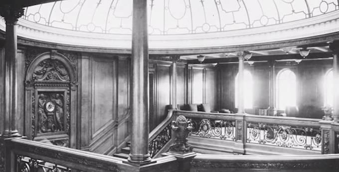 Takhle vypadal interiér Titanicu.