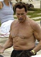 Doby, kdy byl Arnie kulturista, jsou dávno pryč a jeho bachor je teď dost strašlivý.