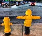 Dítě nebo hydrant? Tady je to nerozhodně.