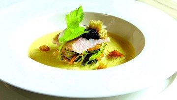 Krémová polévka z uzených ryb