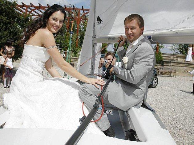 Lucie Váchová a David Křížek