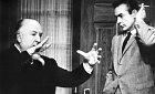 Alfred Hitchcock se Seanem Connerym během natáčení filmu Marnie