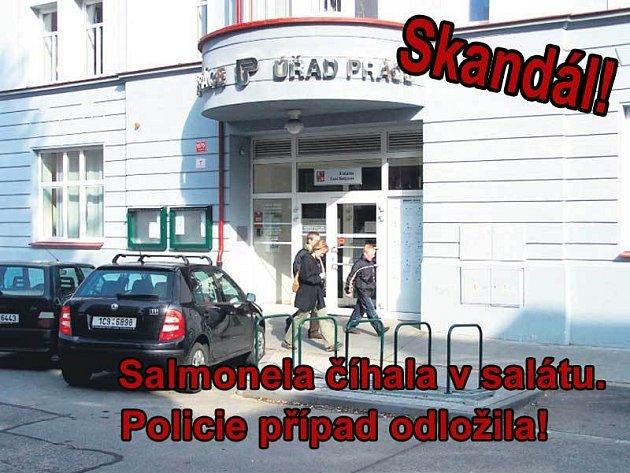 Tady v jídelně na Úřadu práce v Českých Budějovicích se 67 lidí nakazilo salmonelou. Tři z nich zemřeli.