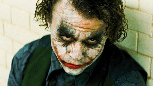 Heath Ledger jako Joker.
