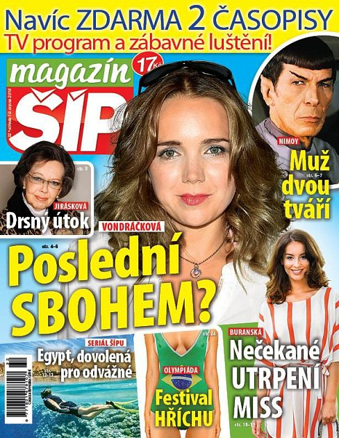 Titulní strana Magazínu Šíp 10.8.2016