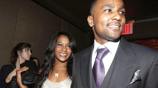 Dcera Whitney Houstonové Bobbi Brown se svým snoubencem Nickem.