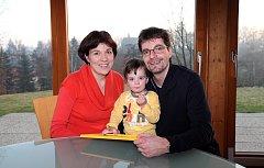 Michal Jančařík s rodinou.