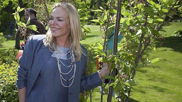 Dagmar Havlová se předvedla vbotanické zahradě.