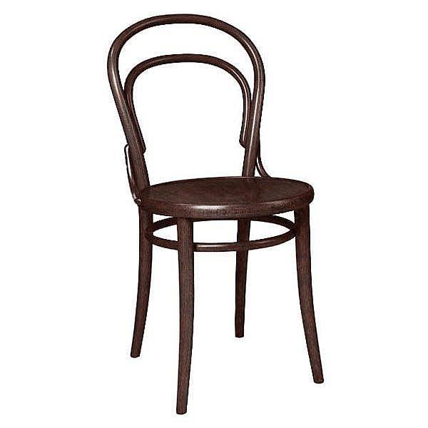 Židle číslo 14. Ikona designu, jejíž cena začíná na 1635 korunách.