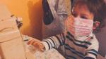 Koronavirus, rouška, Eva Burešová, syn