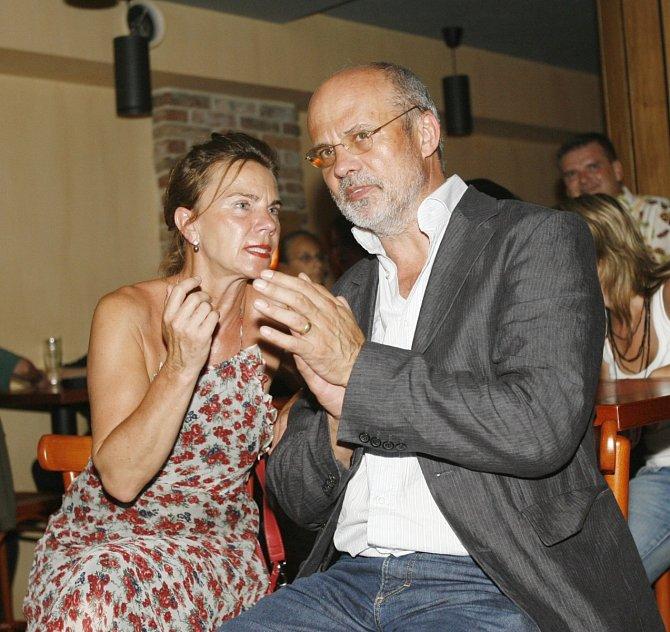 Michal Horáček (na snímku s první manželkou Ruth) velmi oceňoval Františkův talent.