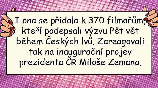 Daniela Kolářová kritikou nešetřila.