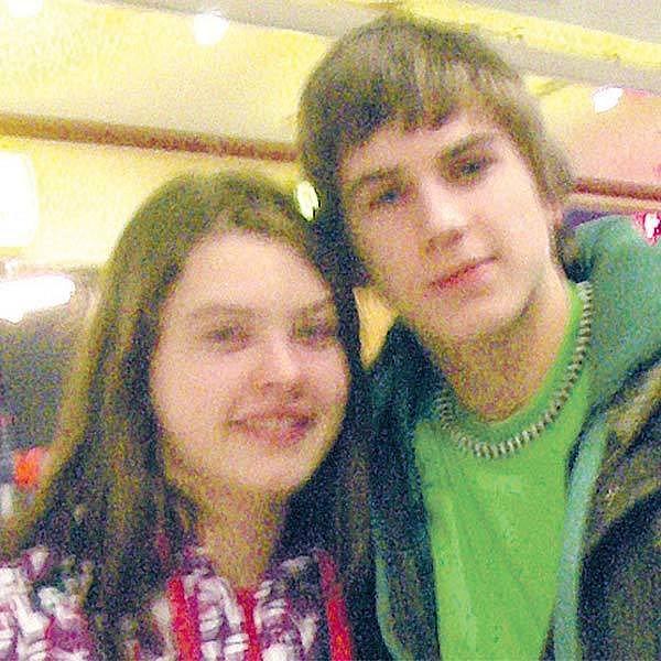 David Gránský s Annou Ungrovou ve smíchovském obchodním centru.