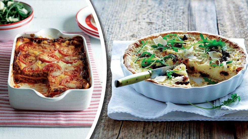 Domácí lasagne a rýžový koláč