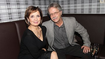 Herečka Veronika Freimanová s manželem Vladimírem Boučkem.