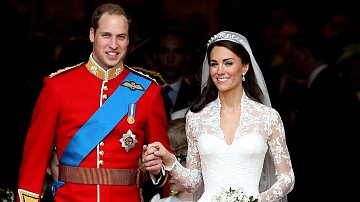 William a Kate na své svatbě