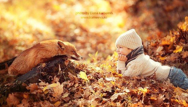 Spojení dětí a zvířat...