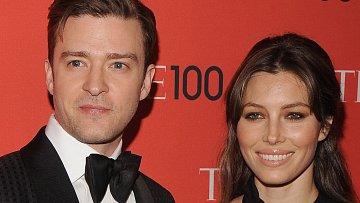 Justin Timberlake s manželkou Jessicou Biel.