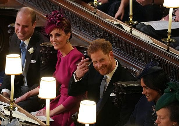 Meghan Markle, Princ Harry, Kate Middleton a princ William