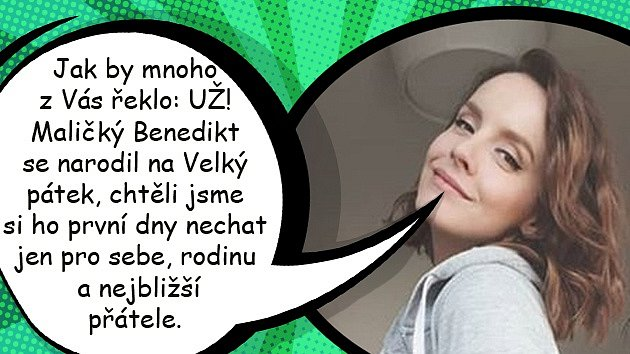 Gábina Lašková porodila chlapečka jménem Benedikt.