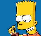 Bart Simpson jako animovaný.