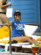 Caroline Flacková a její pohádka na pláži v Miami: Nejdřív selfie...