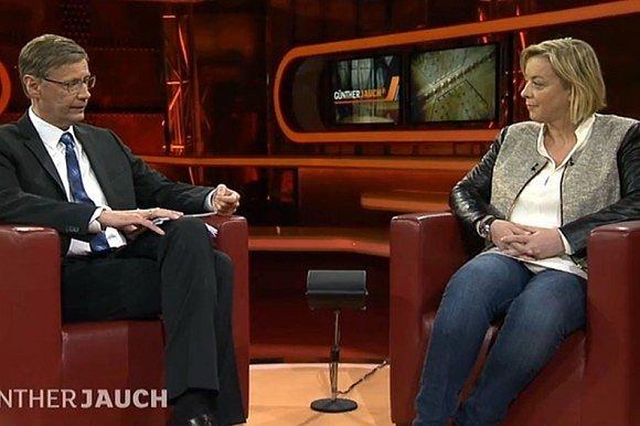 Sabine Kehm vrozhovoru Güntherem Jauchem