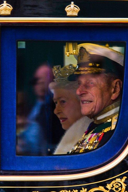 Královna Alžběta II. s princem Philipem