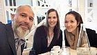 Honza Musil s dcerami Veronikou a Lucií