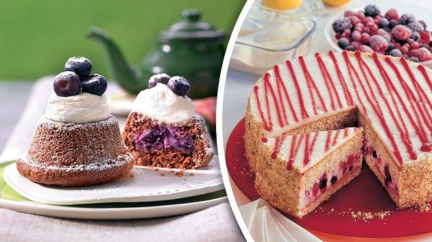 Borůvkové minidortíky a ovocný dort
