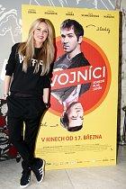 Simona Krainová na tiskové konferenci k filmu Dvojníci
