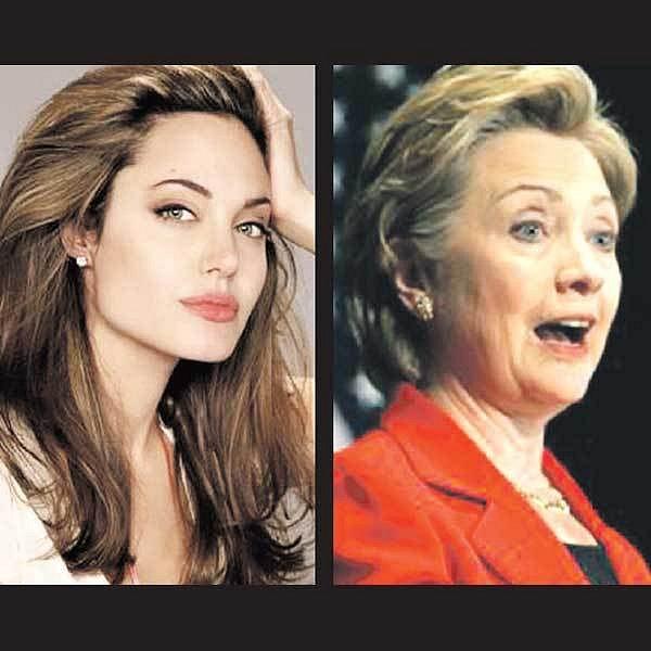 Angelina Jolie, Hillary Clinton