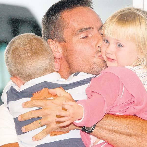 Shledání s dětmi Romanu Šebrlemu báječnou náladu ještě vylepšilo.