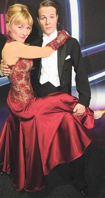 Půvabná herečka Dana Batulková se svým tanečním partnerem Janem Onderem